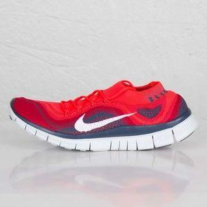 Nike Flyknit Free 5.0 Crimson Red Squadron Blue 14